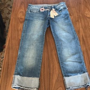 NWT Buffalo David Bitton Denim Capris